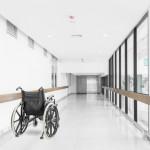 A wheelchair at hospital corridor, Fibromyalgia diagnosis