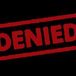 A denied stamp